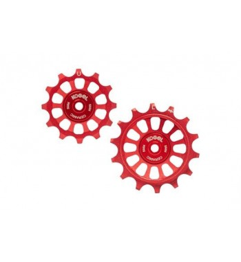 12/14T OVERSIZED PULLEYS FOR SHIM R9100 ROAD (RED)